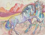 mustang stallion battle