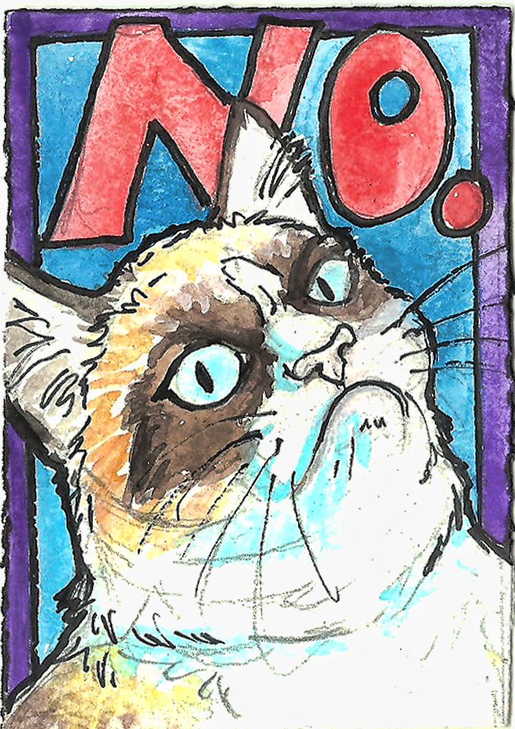 Grumpy Cat ACEO 2 by jupiterjenny