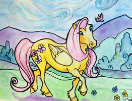 Fluttershy watercolor