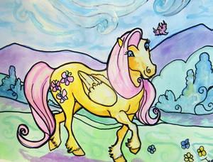 Fluttershy watercolor