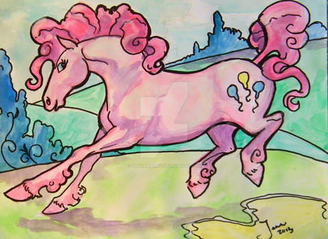 Pinkie PIe fan art watercolor