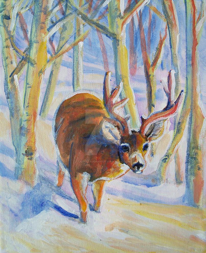 Visiting Mule Deer by jupiterjenny