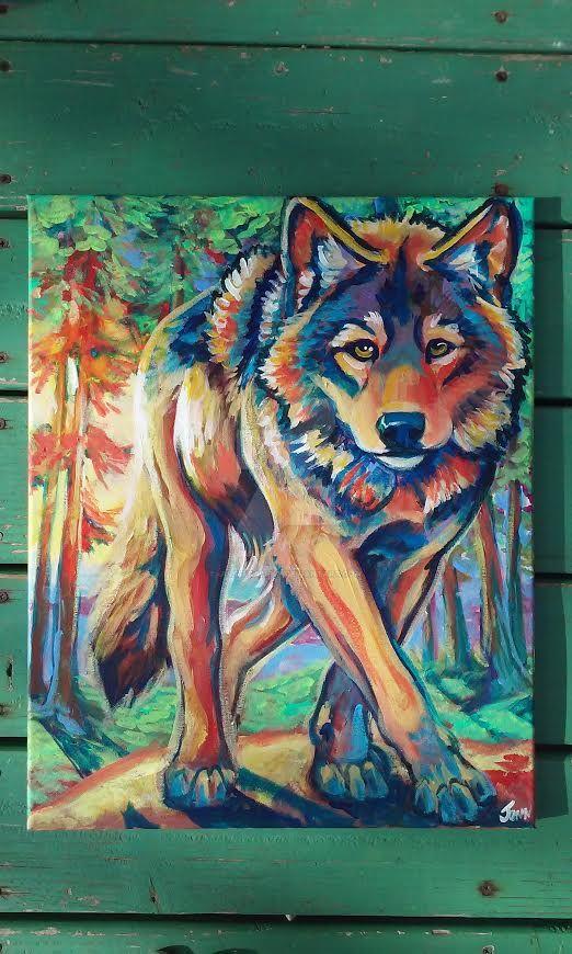 SunRise Wolf by jupiterjenny