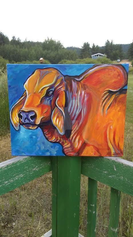 brahma bull study by jupiterjenny