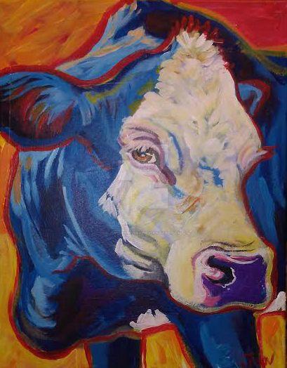 Cow commission by jupiterjenny