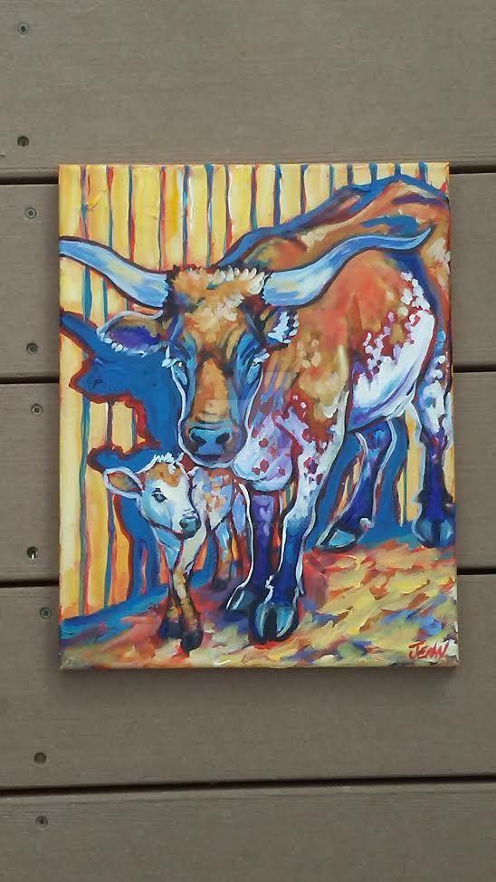 longhorn study by jupiterjenny