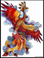 phoenix and highlighters by jupiterjenny