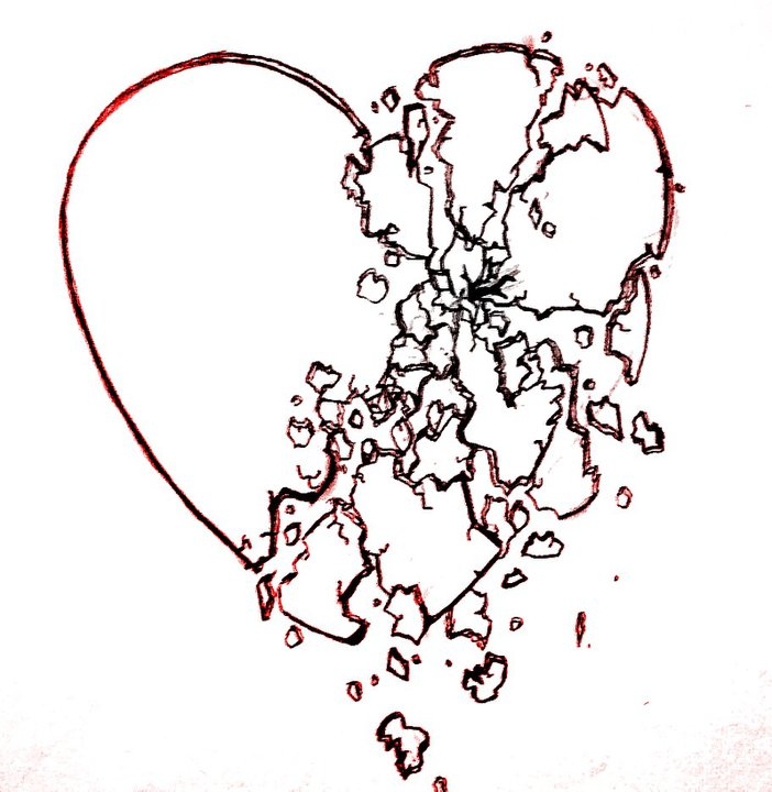 Shattered Heart Drawings Shattering heart by