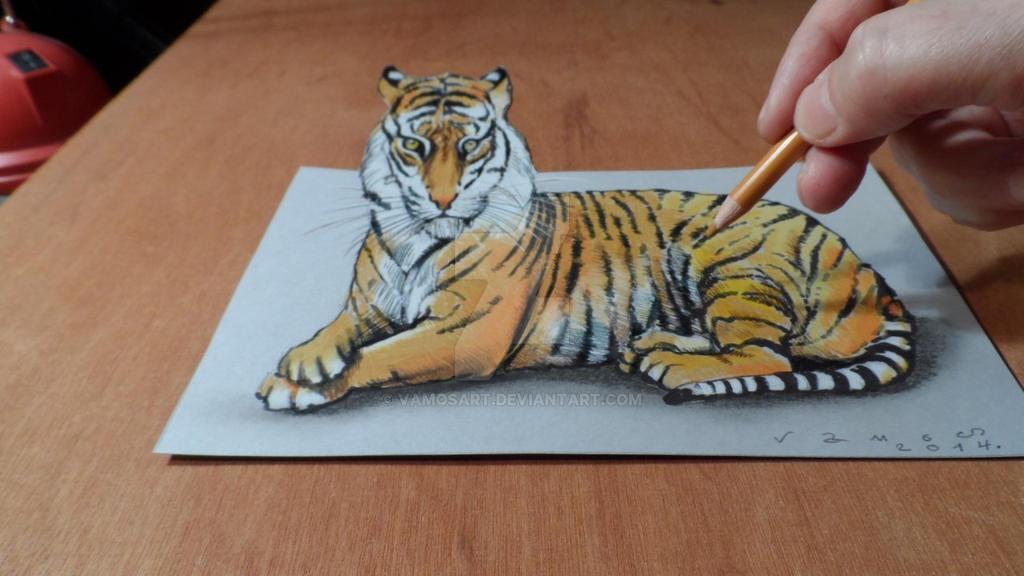 3D Drawing Tiger