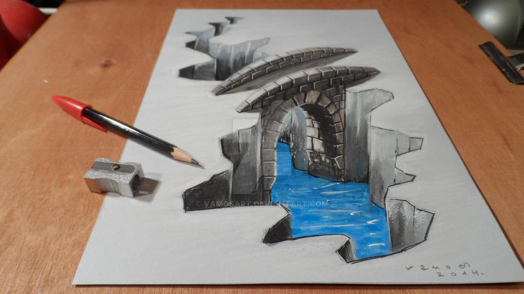 Visual arts drawing 3d