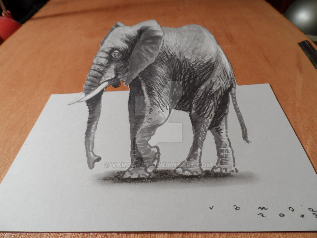 3D Elephant, High resolution by VamosArt on DeviantArt - photo#42