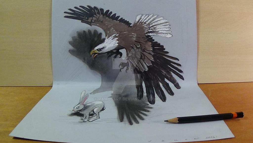 Hunting Eagle, 3D Art by VamosArt