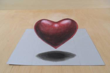 Heart 3D by VamosArt