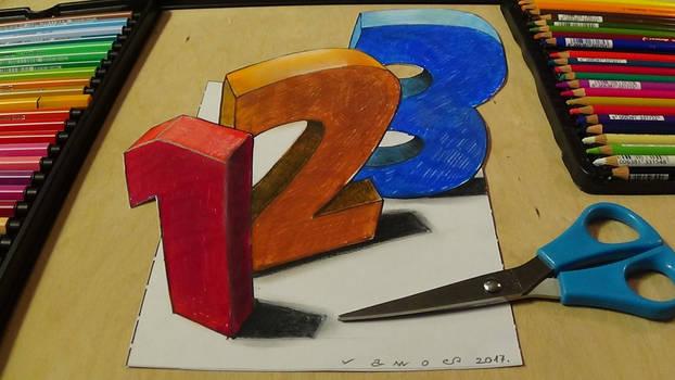 3D Numbers by VamosArt