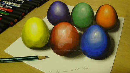 3D Easter Eggs by Vamos