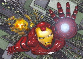 Iron man ACEO Sketch Card by LouPons
