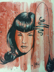 Bettie Page Vampirella by LouPons