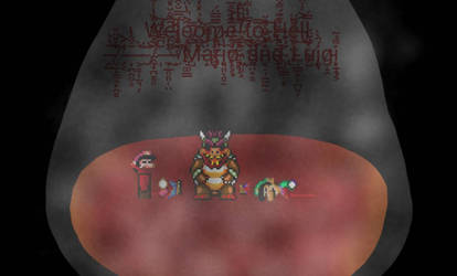 bowser.exe Game over screen by luigipro47
