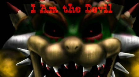 Bowser.exe Game over screen 2nd by luigipro47