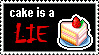 cake is a lie stamp by mooseyfategirl