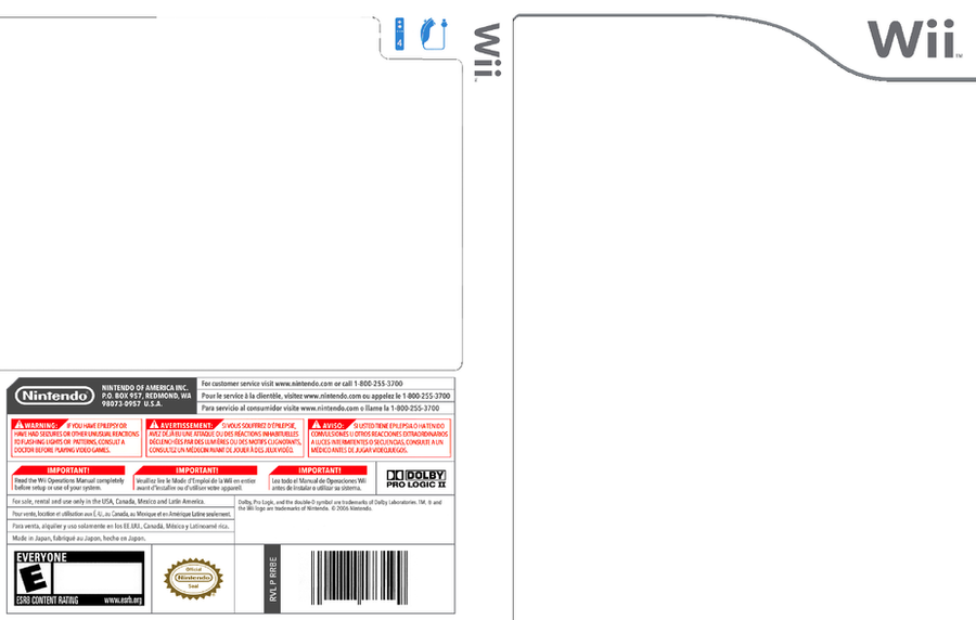 Blank wii cover by zenith0014 by 10networks on deviantart for Video game cover template