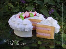 Strawberry and Kiwi Cake by naruchama