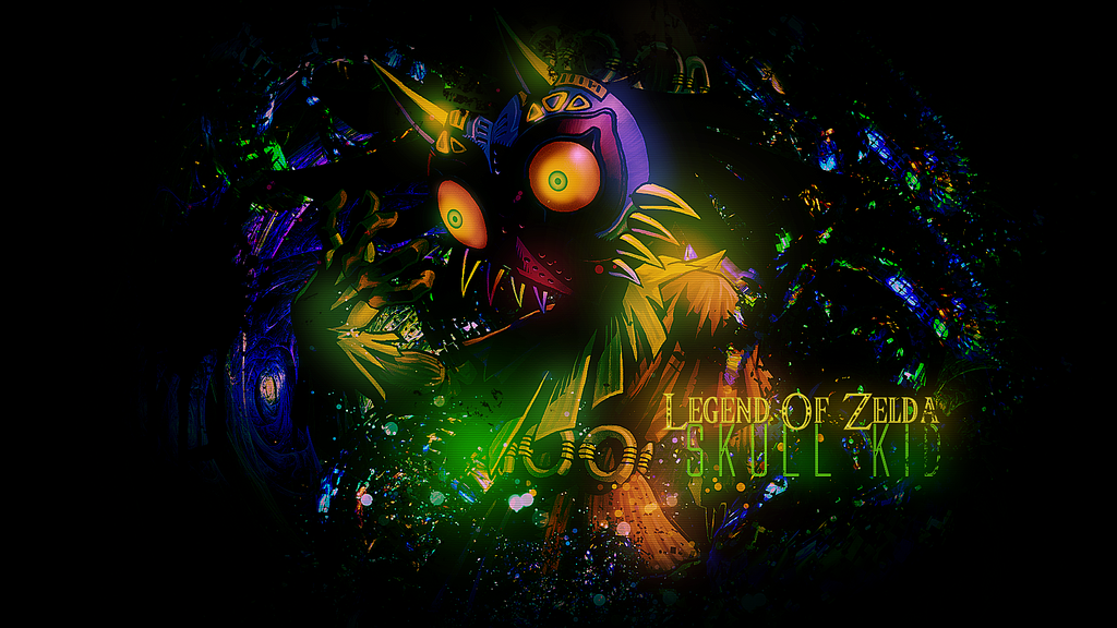 Skull Kid Wallpaper: Legend Of Zelda Skull Kid Wallpaper By ZFlashyStyle On