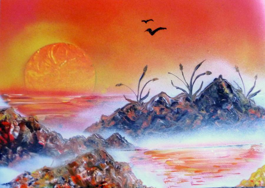 Orange Sunrise by TheLastOfTheFlock