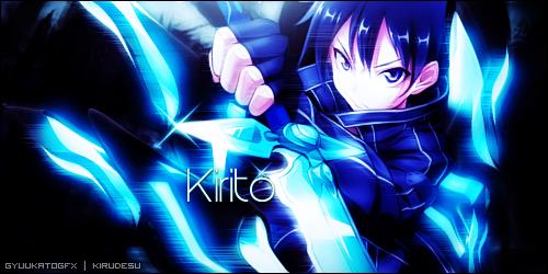Kirigaya Kazuto - Sword Art Online v2 by Kirukatocchi