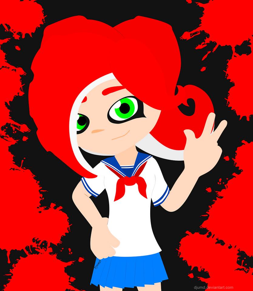 Octoling New Schoolgirl By DJUMD On DeviantArt