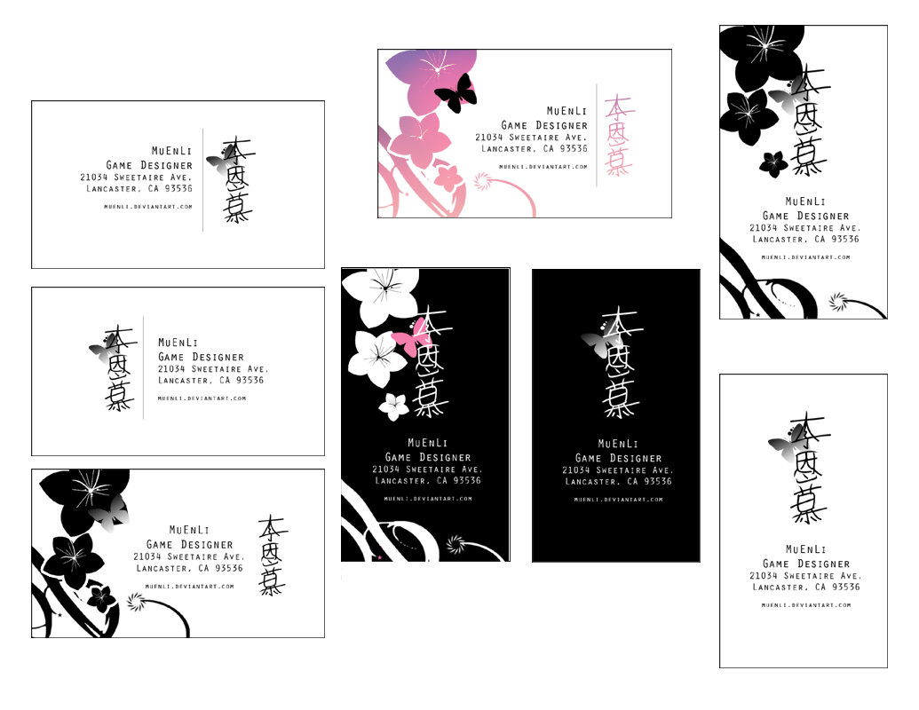 Promotional Business Cards by MuEnLi on DeviantArt