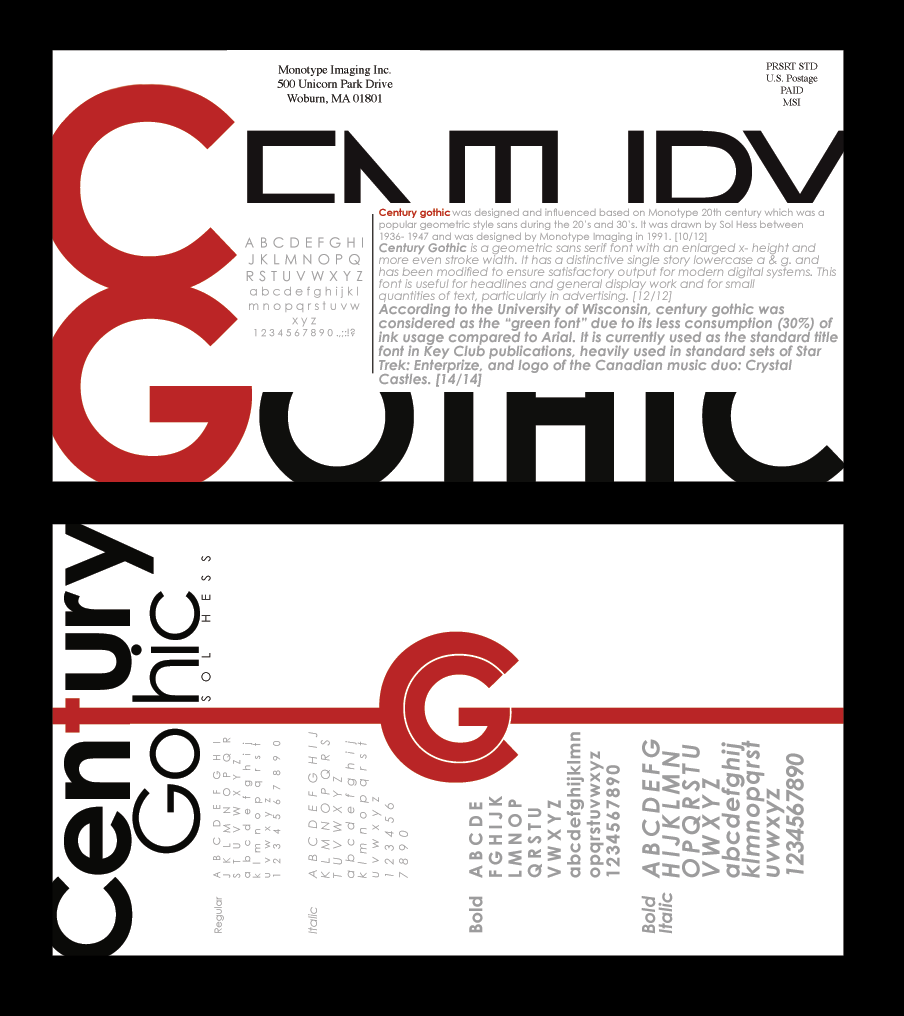 Font Type Postcard by MuEnLi