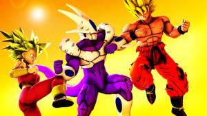 Goku and Kefla vs Cooler (Commission) by MrTermi988
