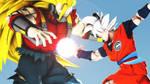 Cumber ssj3 vs Goku Ultra Instinct (SDBH manga 5)