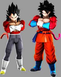 DBXV2-Goku and Vegeta FNF Ssj4 by MrTermi988