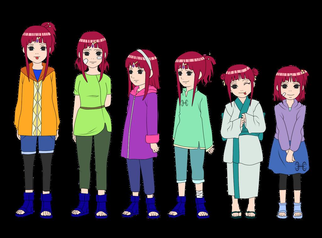 Mitomi Senjun Uzumaki Outfit Color Children by muwiguaragonny