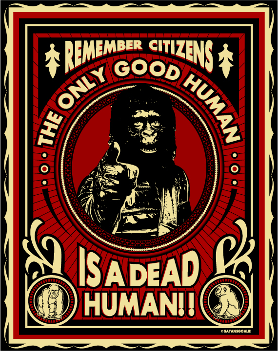 ape propaganda by Satansgoalie