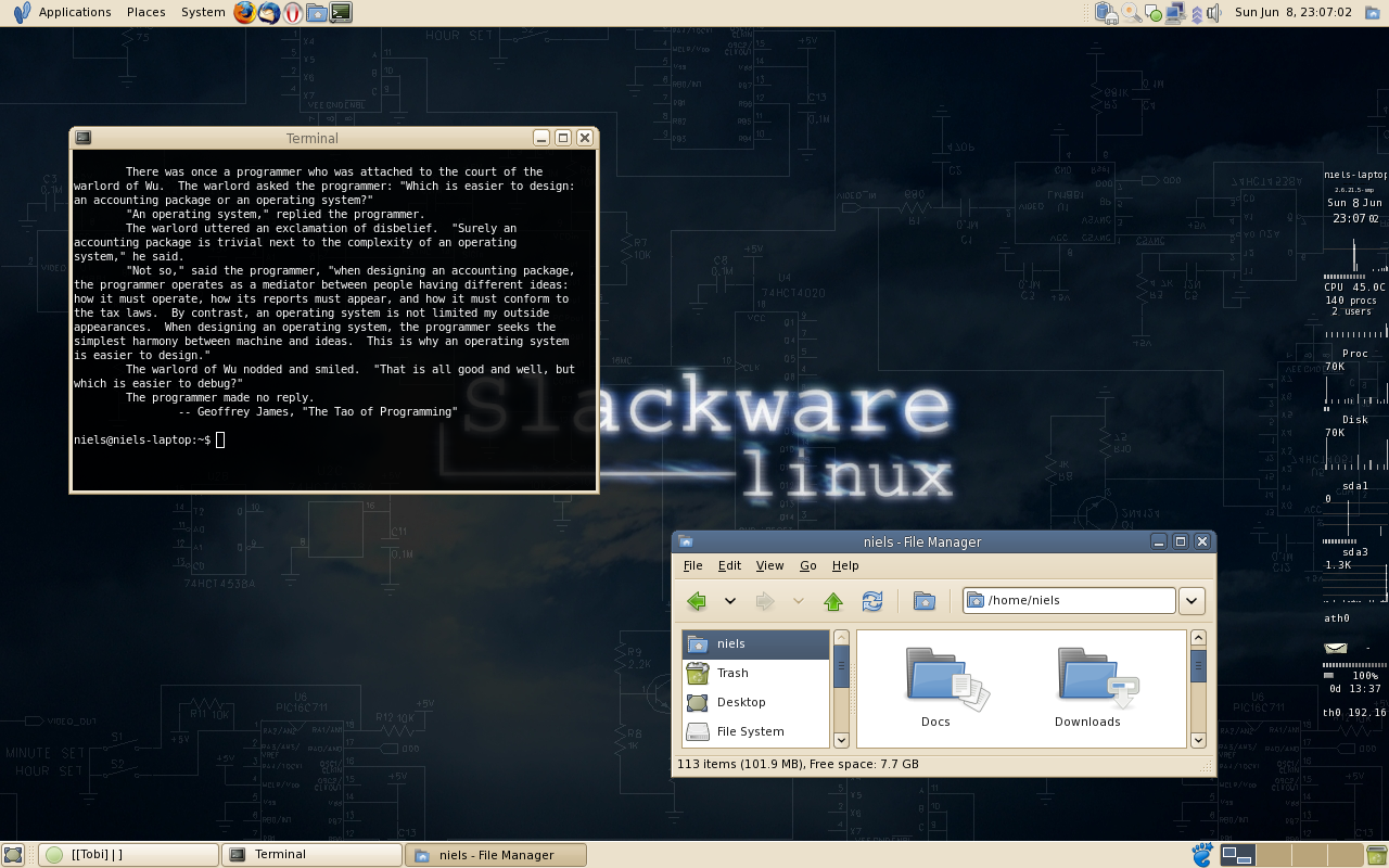 Leet GNOME desktop