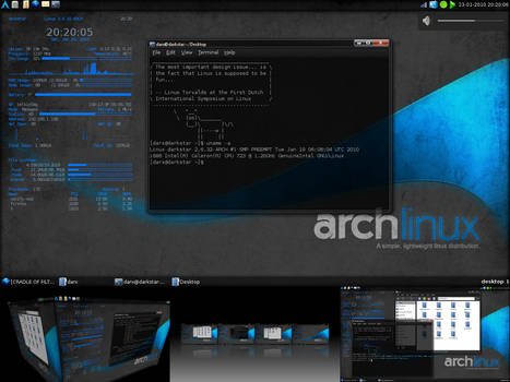 Jan10: Arch + LXDE + Compiz