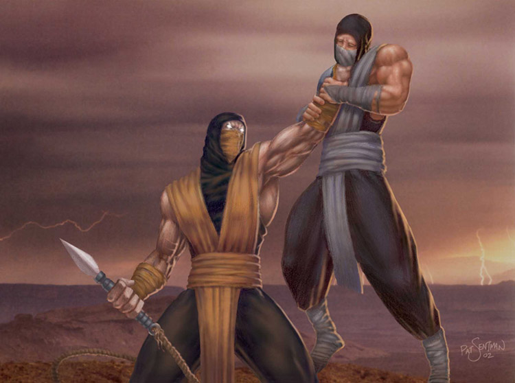 mortal kombat 11 scorpion vs sub zero