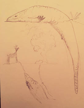 Realistic skull crawler sketch for #specChallenge