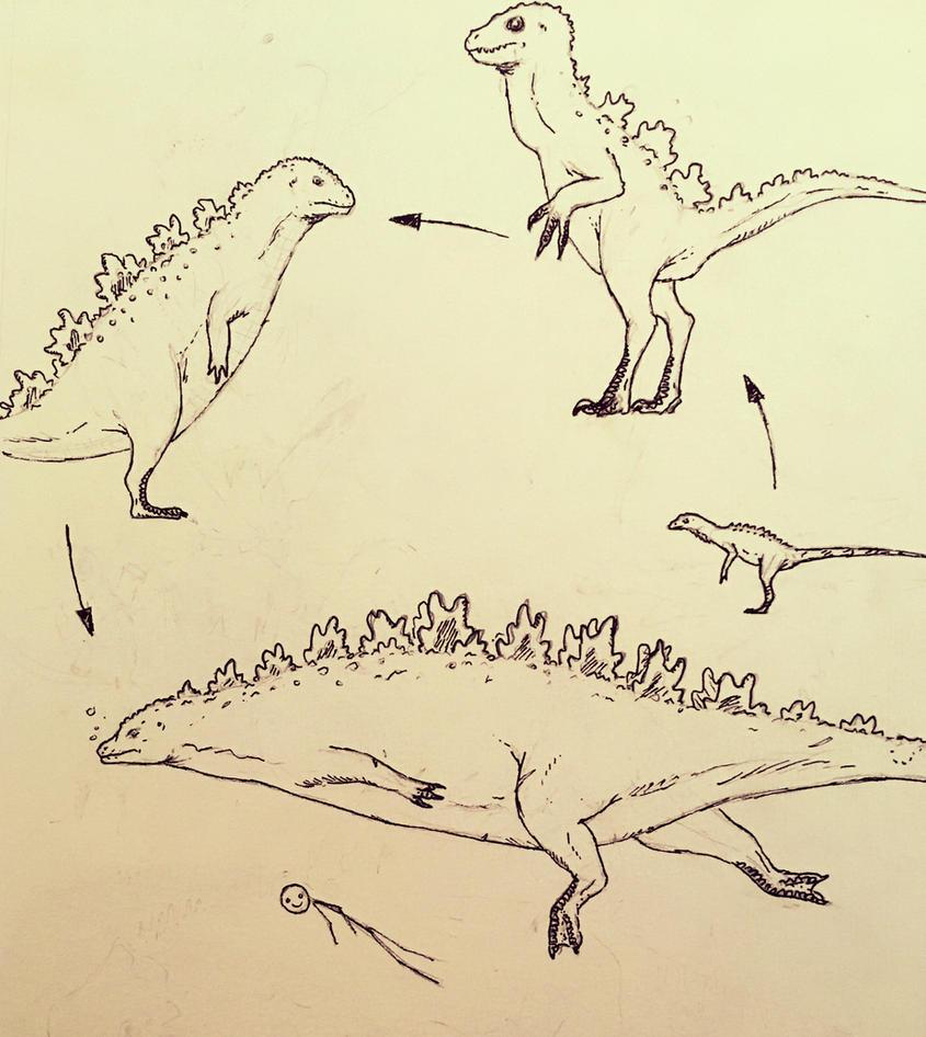 Godzilla evolution by gojimannn