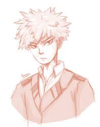 Bakugou Sketch by Namrii