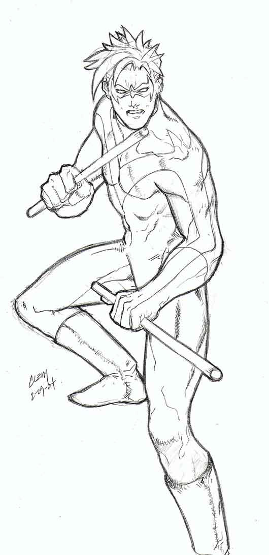 Nightwing By Wushuboy On Deviantart Nightwing Coloring Pages