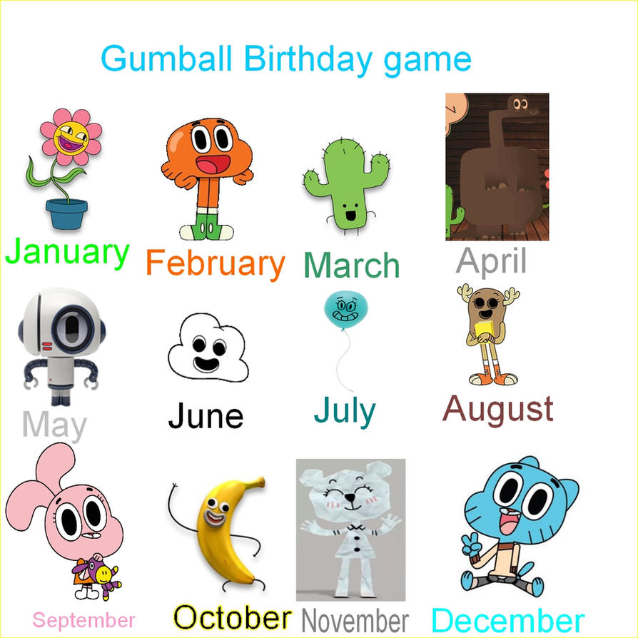 The Amazing World Of Gumball Characters Names Jpg 894x894