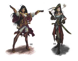 Pirate Ladies by BryanSyme