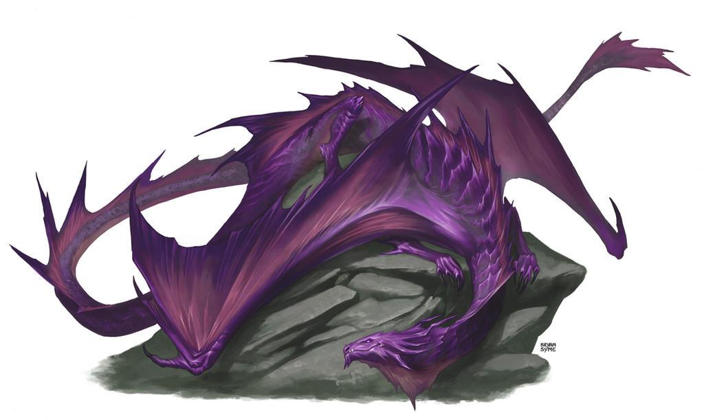 Amethyst Dragon by BryanSyme