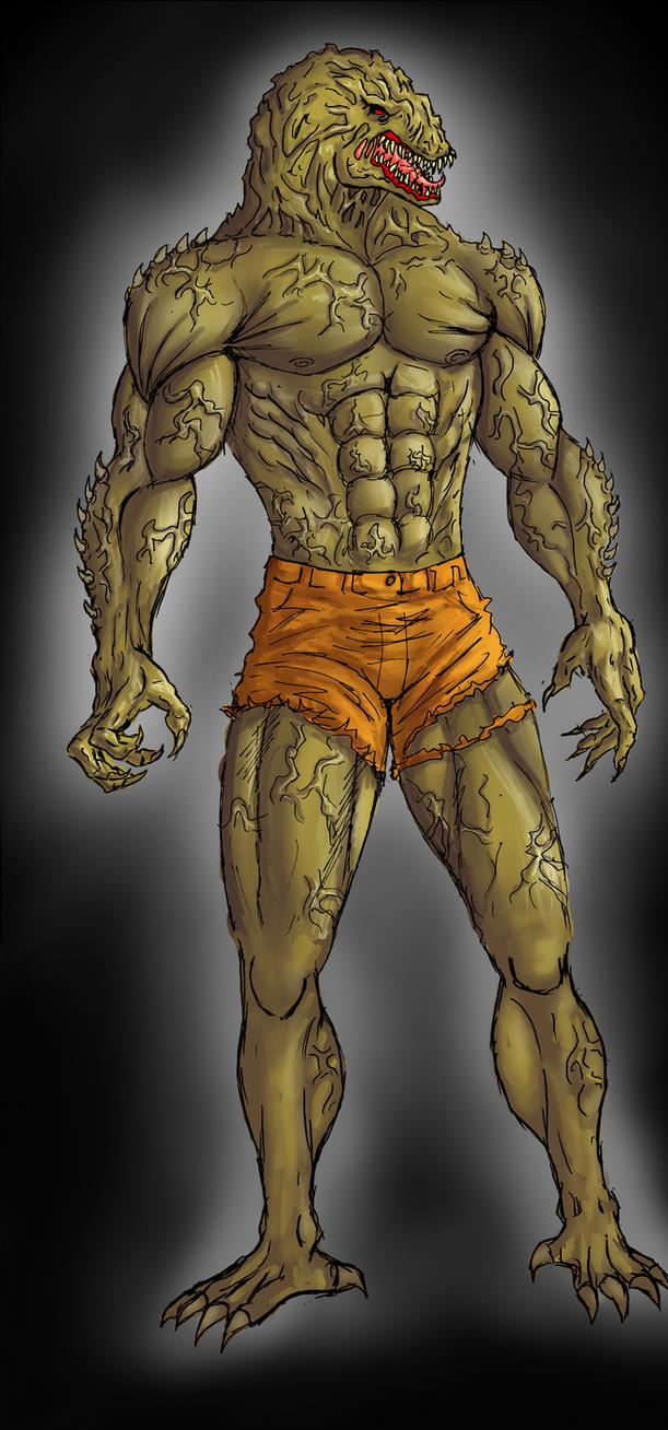 Killer Croc in colour Batman Re-Image Wave 2 by dushans
