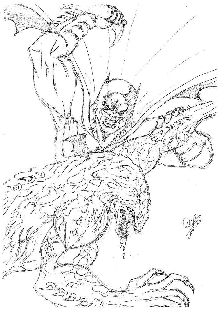 Clip Art Killer Croc Coloring Pages batman vs killer croc coloring pages sketch page view larger image image