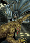 Batman vs Killer croc colour
